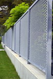 Steel fence Royalty Free Stock Image