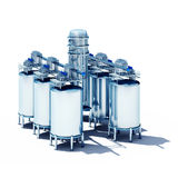 Steel fermentation vats Stock Photography