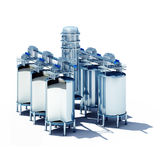 Steel fermentation vats section Royalty Free Stock Photography