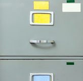 Steel filing cabinet Royalty Free Stock Photography