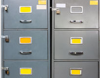 Steel filing cabinet Royalty Free Stock Images