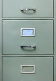Steel filing cabinet Stock Photo