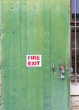 Steel fire door for security and safety Stock Images