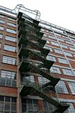 Steel fire escape Stock Photo