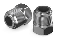 Steel fittings Royalty Free Stock Photo