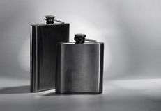 Steel flask. Stock Images
