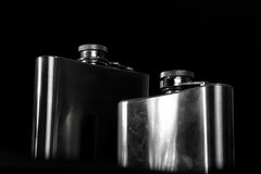 Steel flask. Stock Image