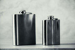 Steel flasks Stock Image