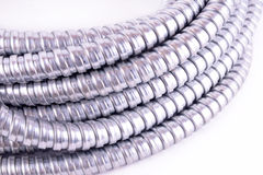 Steel flexible conduit Royalty Free Stock Photo