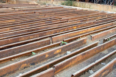 Steel floor Scaffolding used for secondary for construction Stock Image