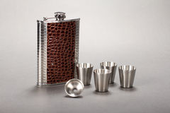 Steel folding wine pot Royalty Free Stock Image