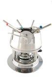 Steel fondue maker Stock Images