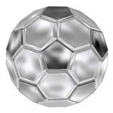 Steel football. Black and White Soccer Ball with steel Royalty Free Stock Images