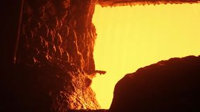 Steel foundry stock footage