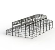 Steel Frame. Internal frame of steel structure construction Stock Photo