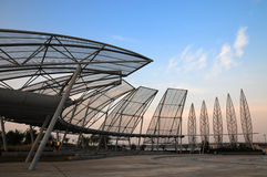 Steel frame architecture Royalty Free Stock Photo