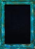 Steel  frame blackboard. Empty blackboard with blue and brown steel frame Stock Image