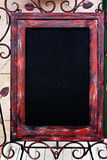 Steel  frame blackboard Royalty Free Stock Images