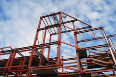 Steel frame of business building Royalty Free Stock Images