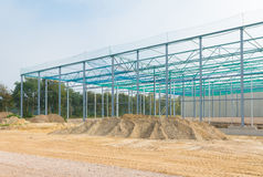 Steel frame construction Stock Images