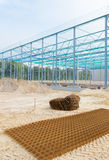 Steel frame construction Stock Image
