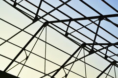 Steel frame of the factory roof Royalty Free Stock Photography