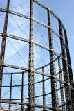 A steel frame of a Gas tower. In London Royalty Free Stock Image