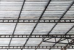 Steel frame with the insulation sheet. Stock Image