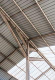 Steel frame of modern roof Stock Photography