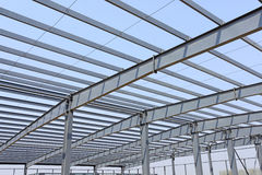 Steel frame structure Stock Images