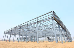 Steel frame structure Royalty Free Stock Images