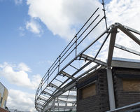 Steel Framed Building Under Construction Royalty Free Stock Photos