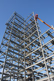 Steel Framework. For a new building under construction royalty free stock photo