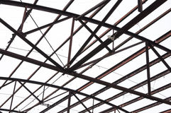 Steel framework of building Royalty Free Stock Image