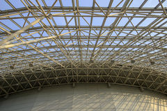 Steel framework of the dome Royalty Free Stock Photos