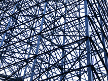 Steel framework structure on modern architecture Stock Photos