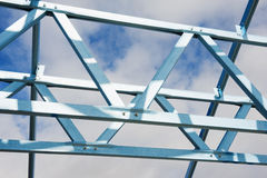 Steel framework under construction Royalty Free Stock Image