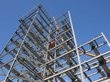 Steel Framework Under Construction Stock Photography