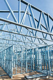Steel framework under construction Stock Photos