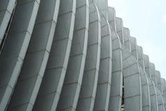 Steel Frameworks of Exhibition Pavillion Stock Images