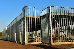 New commercial business under construction. stock images