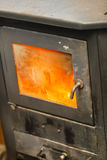 Steel furnace in operation. Stock Image