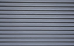 Steel garage grey doors Stock Image