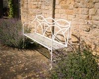 Steel Garden Seat Royalty Free Stock Photo