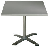 Steel Garden Table. On white with clipping path Stock Images