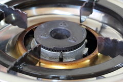 Steel gas burner Stock Image
