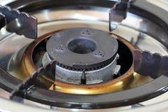 Steel gas burner. Gas burner for kitchen using Stock Image