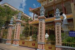 Temple at the Can tho -  Vietnam. Steel gate before the temple in Can tho city Vietnam Stock Photo