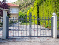 Steel gates Royalty Free Stock Photos