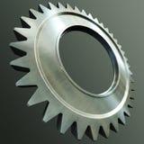 Steel gear. 3d rendering of the steel gear royalty free illustration